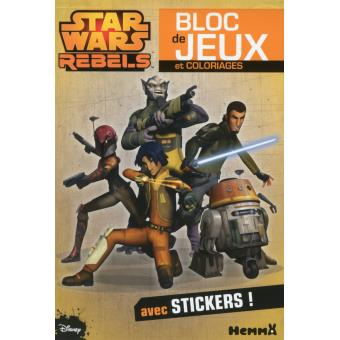 Star Wars RebelsDisney star wars rebels : bloc de jeux et coloriages avec stickers