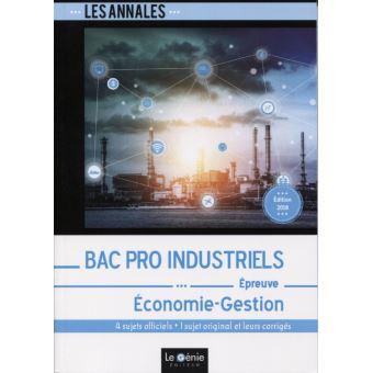 Annales Bac Pro Industriels Economie-Gestion