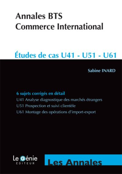 Annales BTS Commerce international