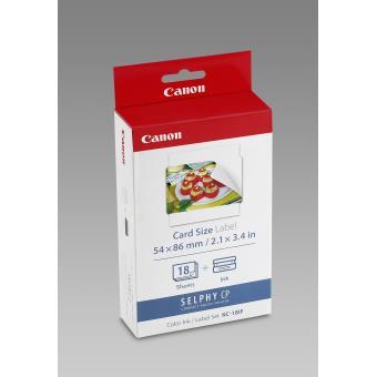 Kit Canon Papier + Encre 18 autocollants format carte de crédit pour série CP - KC-18IF