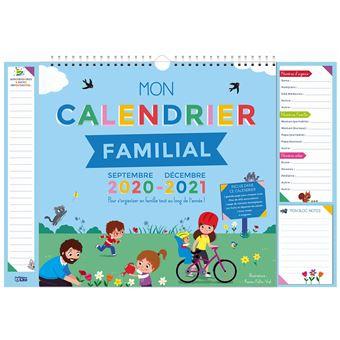 Mon calendrier familial 2020 2021   broché   Rozenn Follio Vrel