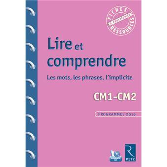 Lire Et Comprendre Cm1 Cm2 Les Mots Les Phrases L Implicite Cd Rom