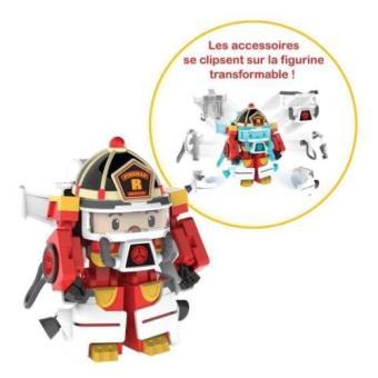 Véhicule Transformable Roy Action Pack Space Robocar Poli Rouge Jaune Noir Ouaps