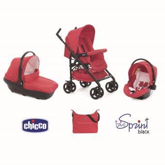 Poussette Chicco Trio Sprint Black Rouge - Produits bébés | fnac