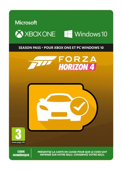 Code de téléchargement Car Pass Forza Horizon 4 Xbox One