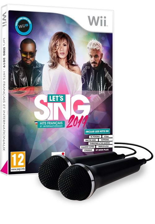 Let's Sing 2019 Hits français et internationaux Nintendo Wii + 2 micros
