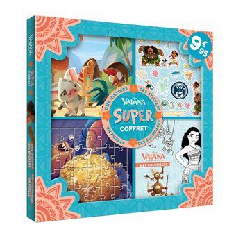 VaianaSuper Coffret Histoire, activités, stickers, puzzles