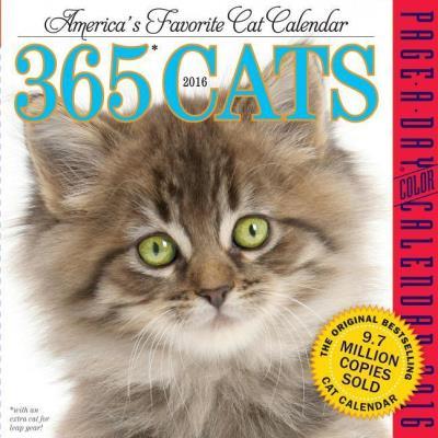 Page-a-week calendar 2016, 365 cats