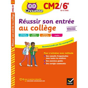 Réussir son entrée au collège CM2/6e