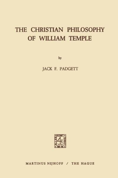 The Christian philosophy of William Temple
