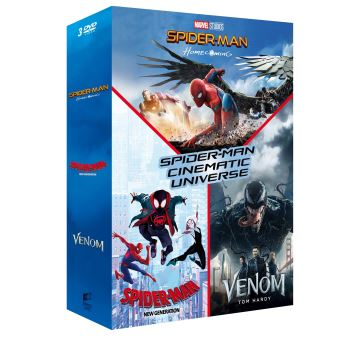 Spider-ManCoffret Spider-Man Cinematic Universe 3 Films DVD