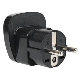 B2B Worldwide Travel Adapter Type E/F To EU/RU Black