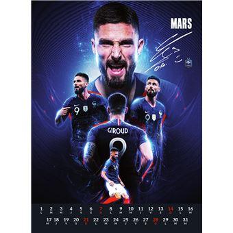 Le calendrier officiel 2021 de l'Equipe de France   broché   FFF