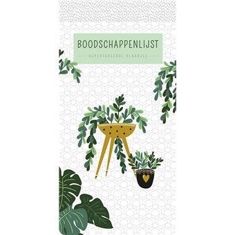 boodschappenlijst houseplants paperback znu boek alle boeken