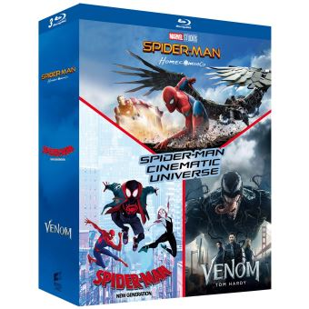 Spider-ManCoffret Spider-Man Cinematic Universe 3 Films Blu-ray
