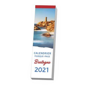Le calendrier marque page Bretagne 2021   broché   Editions 365