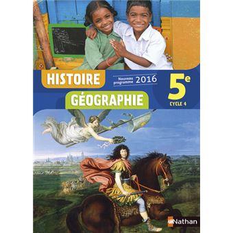 Histoire Géographie 5E 2016 - Manuel Manuel de l'élève, Edition 2016 - relié - Sébastien Côté
