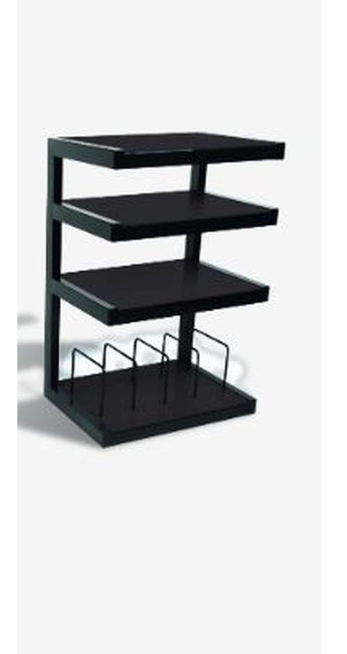 support hifi norstone esse vinyl noir meuble tv achat prix fnac