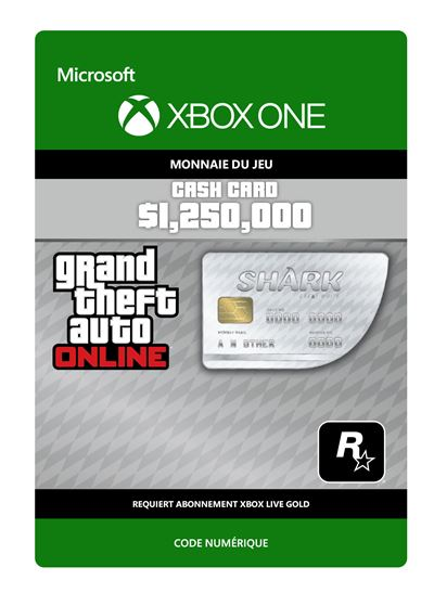 Grand Theft Auto V : Great White Shark Card - Code de télechargement - Xbox One
