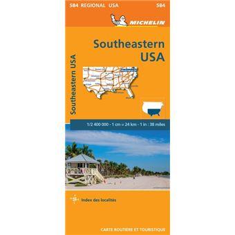 Carte Amerique Du Sud Michelin.Carte Usa Sud Est Michelin