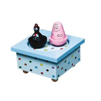 bo te musique en bois barbapapa trousselier bleu ciel. Black Bedroom Furniture Sets. Home Design Ideas