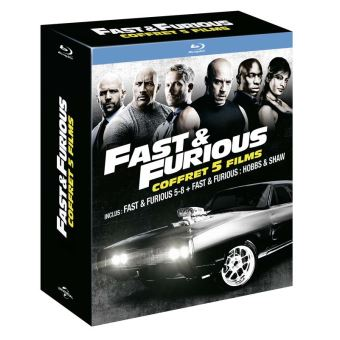 Fast and FuriousCoffret Fast And Furious 5 à 8 et Hobbs And Shaw Blu-ray