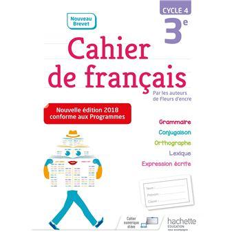 Cahier De Francais 3eme Cycle 4