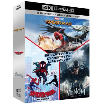 Spider-ManCoffret Spider-Man Cinematic Universe 3 Films Blu-ray 4K Ultra HD