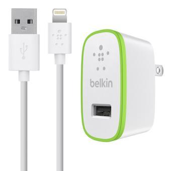 Chargeur Secteur et Câble Lightning Belkin, Blanc