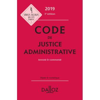 Code de justice administrative 2019, annoté et commenté