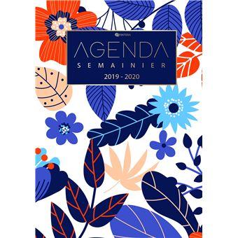 Calendrier De Poche 2019.Agenda Journalier 2019 2020 Agenda Semainier Aout 2019 A Decembre 2020 Calendrier Agenda De Poche