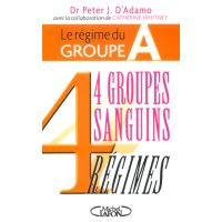 Le régime du groupe A - 4 groupes sanguins 4 régimes