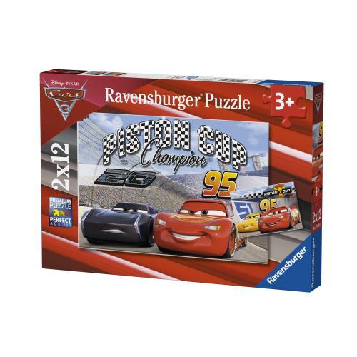 2 puzzles 12 pièces Cars 3 Piston Cup Ravensburger