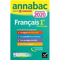 Annales Annabac 2020 Français 1re technologique