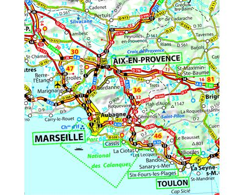 carte routiere france sud est