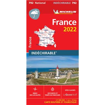 Carte Routiere De France 2019.Carte France 2019 Indechirable Michelin