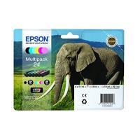 Multipack cartouches d'encre Epson Eléphant 24, 6 couleurs