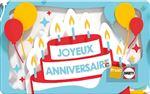 E-carte cadeau Fnac Darty anniversaire