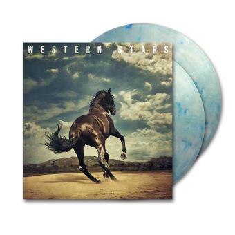 Western Stars Double Vinyle coloré mélange clair et fumée bleue Gatefold Edition Limitée