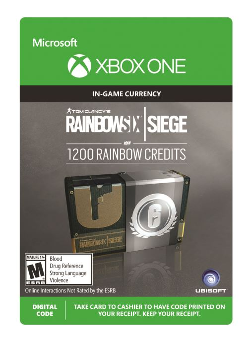 Code de télechargement Rainbow Six Siege Currency pack 1200 credits Xbox One