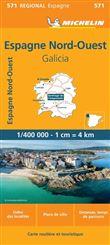 Carte Espana Noroeste, Galicia Michelin