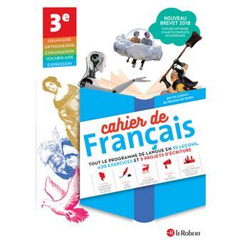 Cahier De Francais 3e Version Eleve