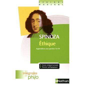 Int philo 34 spinoza Ethique. Appendices aux parties 1 et 4