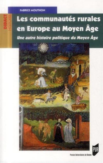 Communautes rurales en europe au moyen age