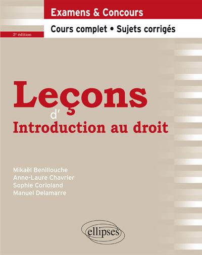 Leçons d'Introduction au droit, 2e édition