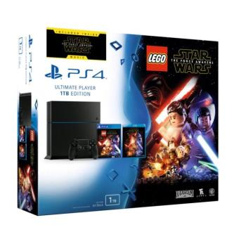 Pack Console PS4 Sony 1 To Noire + Jeu Lego Star Wars + Blu-Ray : Star Wars The Force Awakens