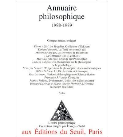 Annuaire philosophique (1988-1989)
