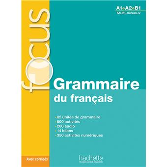 Focus Grammaire Du Francais Cd Audio Corriges Parcours Digital