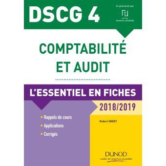 DSCG 4 - Comptabilité et audit - 7e éd. - L'essentiel en fiches - 2018/2019