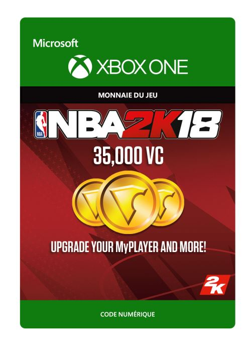 NBA 2K18 : 35,000 VC - Code de télechargement - Xbox One